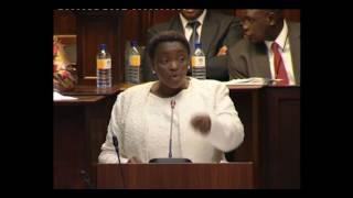 Minister Bathabile Dlamini being emotional: