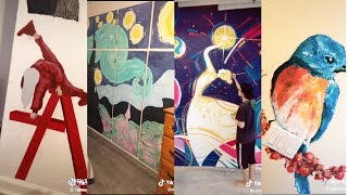 Wall Painting Compilation | TOP Tik Tok