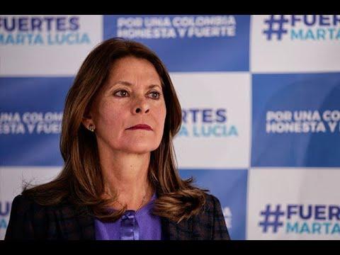 Marta Lucia Ramirez se refirio al paro armado que anuncio el ELN