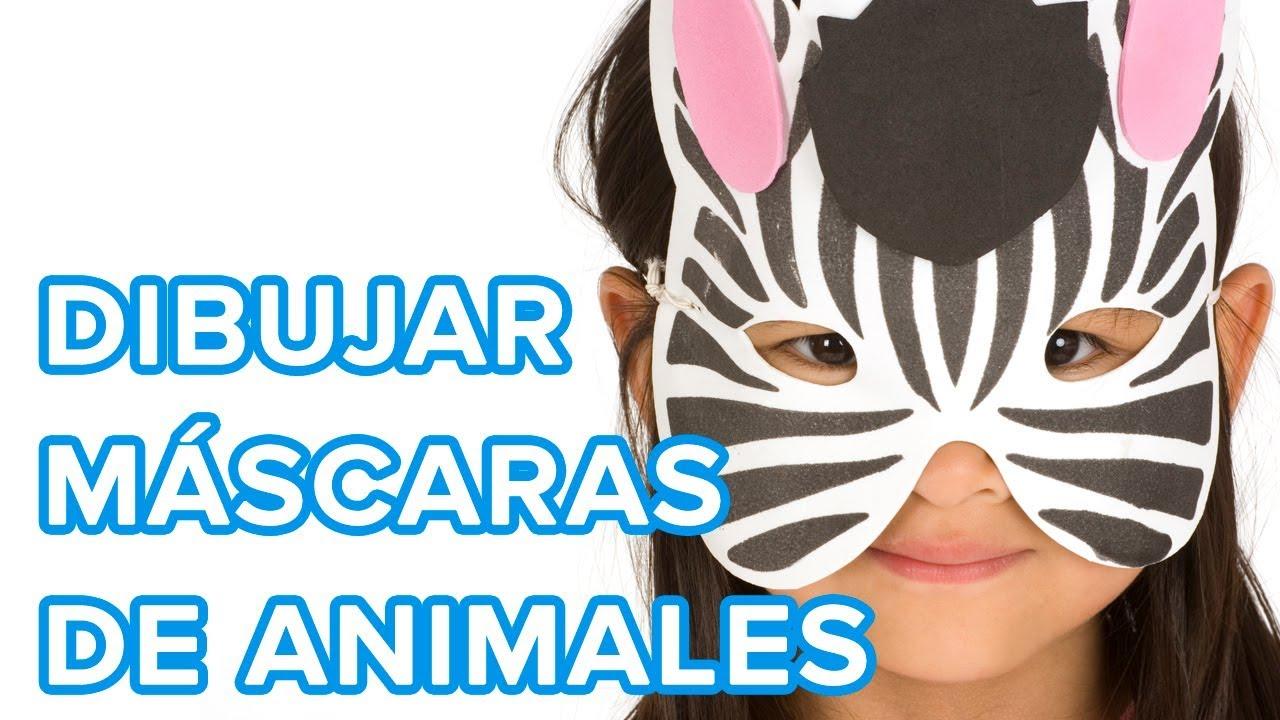 Cómo dibujar máscaras de animales para carnaval | 7 ideas muy fáciles para disfraces de carnaval