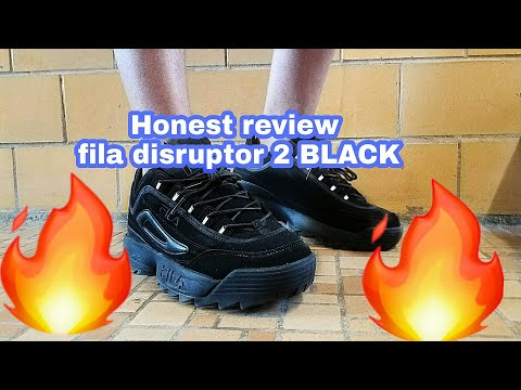 Fila disruptor 2 BLACK review/ Try on