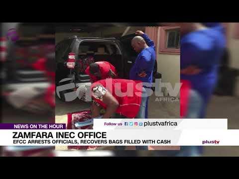 EFCC Recover Bags Of Presumed Cash From INEC office In Zamfara