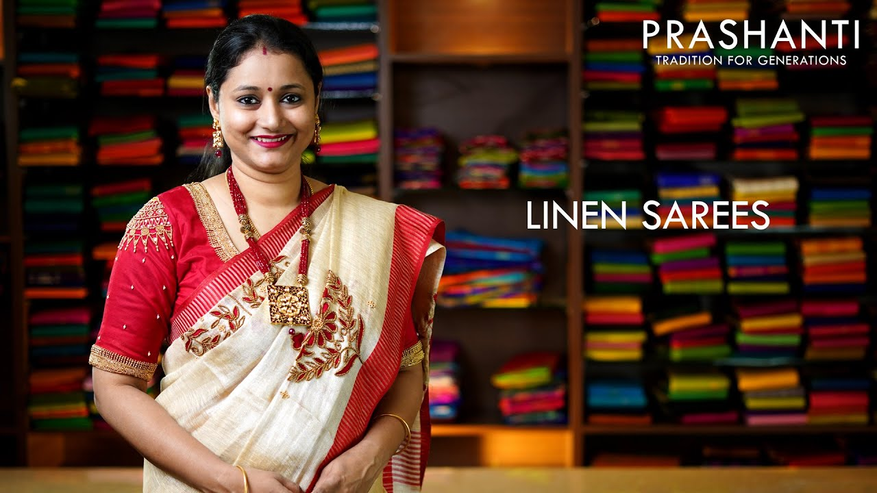 "<p style=""color: red"">Video : </p>Linen Sarees 