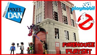Playmobil Ghostbusters Firehouse Playset Video Review