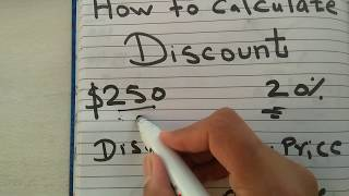 How to calculate discount with percentage