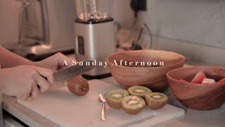 A Sunday Afternoon 做早餐 fruit juice 整理房間 做coffee ice cubes 吃蛋糕 ft. 最近喜歡的歌
