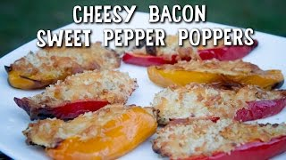 Cheesy Bacon Sweet Pepper Poppers