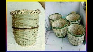 Fabricando um balaio(cesto ou jacá) usando taquara poca.
