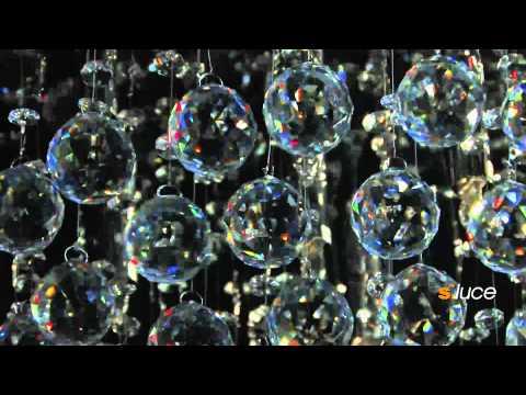 s`luce BLAZE Kristall-Leuchte Deckenlampe, Licht-Design Skapetze