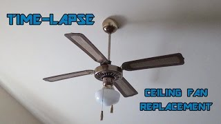 Time-Lapse: Replacing a Ceiling Fan