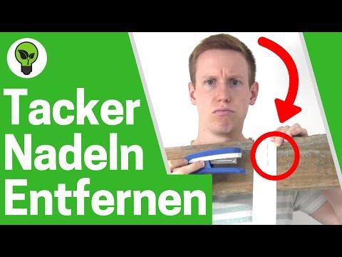 Heftklammern entfernen ✅ ULTIMATIVE ANLEITUNG: Tackernadeln & Tackerklammern mit Enthefter lösen!!!