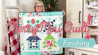 Christmas In July Sew Along - Merry Mini Week Five- Finishing - Fat Quarter Shop