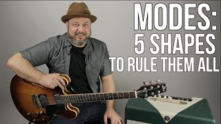 5 Shapes of Major Scale and Modes