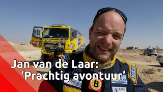 Jan van de Laar bij finish Dakar Rally: 'Prachtig avontuur'