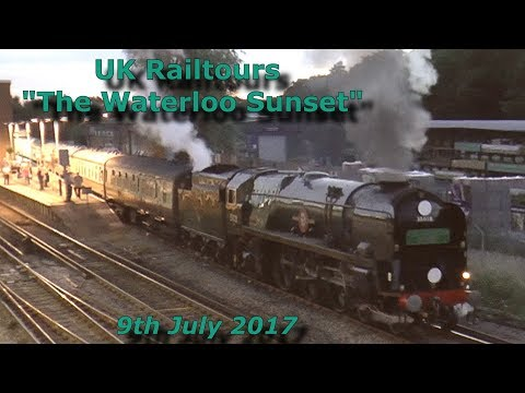 35028 'Clan Line' with 'The Waterloo Sunset' at Haslemere 9t…