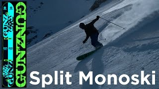 Snow Gunz Monoski Split Ice Axe 177 Split Rando Touring Monoski de randonnée matériel montagne
