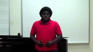 DaShawn Williams, tenor - Wayfaring Stranger arranged by John Jacob Niles