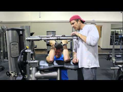 Preacher Machine Curl  Bench Tricep Dips Superset