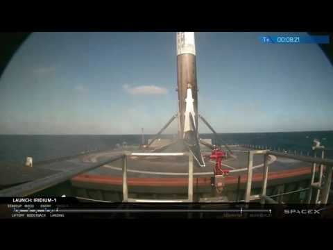 Incredible SpaceX Landing Following Iridium Launch - January 14, 2017