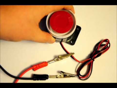 A Loud Pulsing Security 12v Siren Module - A Demonstration Video