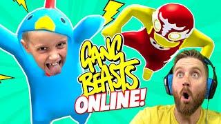 Gang Beasts ONLINE! KIDCITY vs the Internet | KIDCITY GAMING