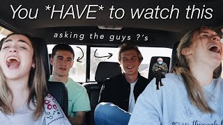 asking senior guys questions girls are too afraid to ask