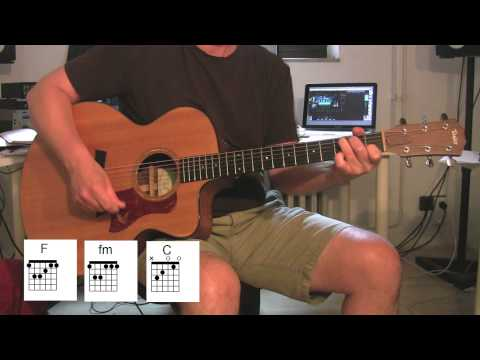 """Don't Look Back In Anger"", Acoustic Guitar With Original Vocals + Chord Diagrams, OASIS"