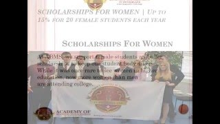 Scholarships For Women   Up to 15% for 20 female students each year