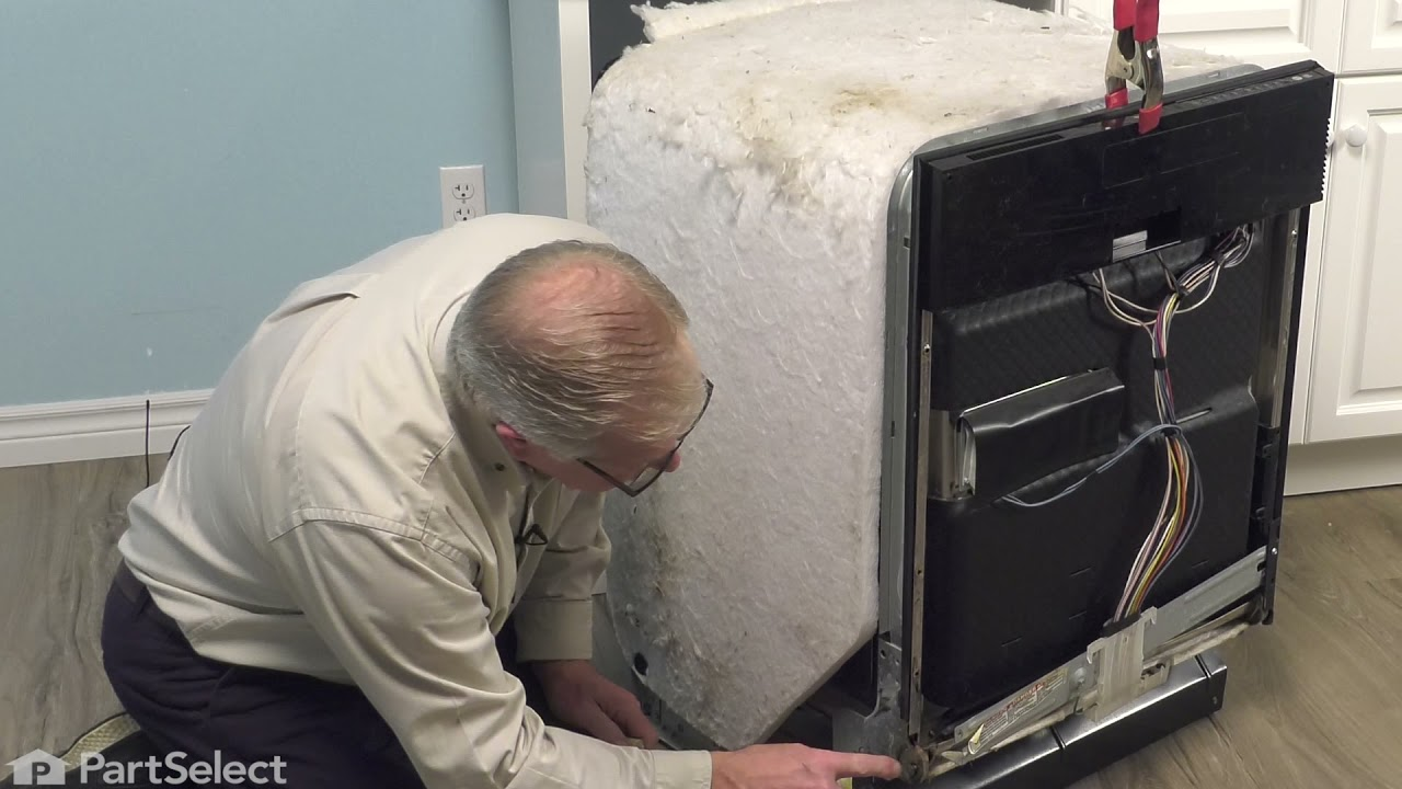 Replacing your KitchenAid Dishwasher Door Hinge - Left Side