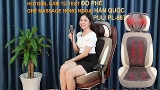 Video ghế massage hồng ngoại mát xa cổ, lưng, mông Hàn Quốc Puli PL-887