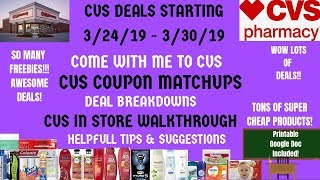 FREE & CHEAP CVS Deals Starting 3/24/19~CVS In Store Walkthrough Coupon Matchups~Come with me~Wow ❤️