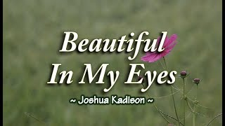 Beautiful In My Eyes - Joshua Kadison (KARAOKE)