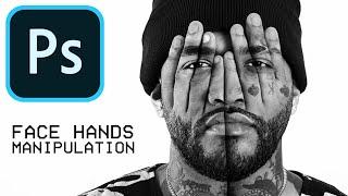 Photoshop Tutorial: Face Hands Photo Manipulation Effect (Joyner Lucas)