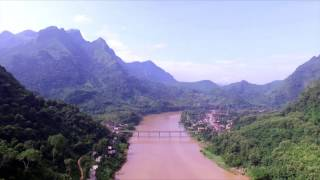 DRONE: Nong Khiaw Bridge