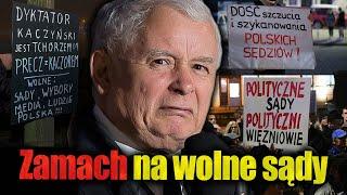 Jarosław Kaczyński dokonuje zamachu na wolne sądy! Jan Piński