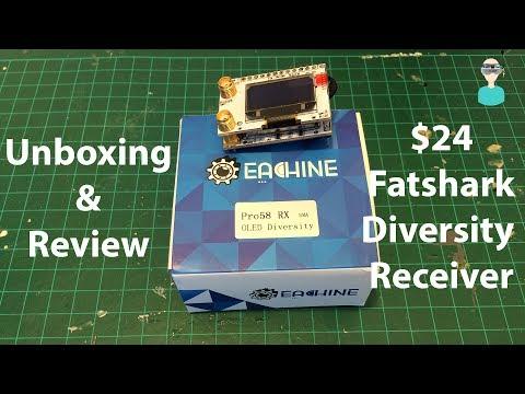 Eachine PRO 58RX - $24 Fatshark Compatible Diversity Receiver - Unboxing And Overview