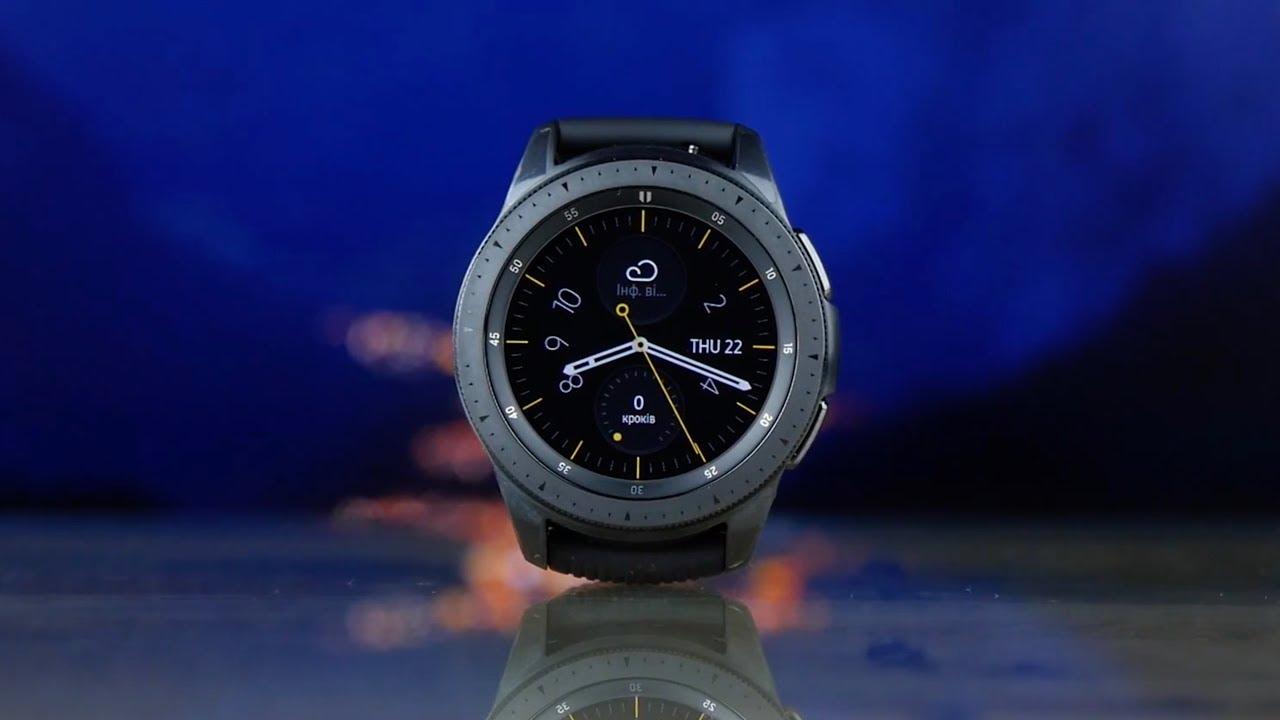 Смарт-часы Samsung Galaxy Watch (42 mm) Black video preview