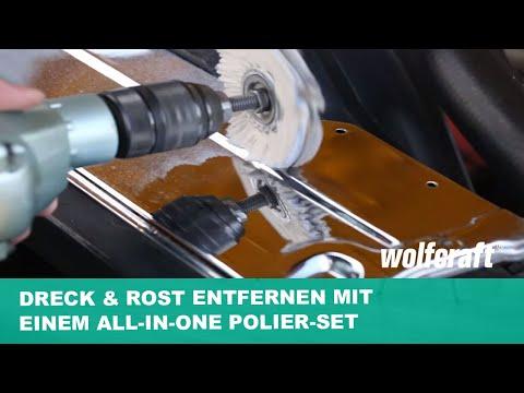 Dreck & Rost entfernen mit einem All-in-one Polier-Set | wolfcraft