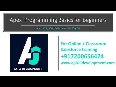 Apex basics for beginners to understand easily | Salesforce online classes |  AJ Skill Development