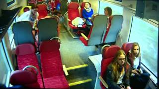 Video: Train driver rushes to warn passengers moments before crash in Poland