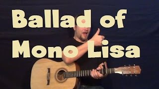 Ballad of Mona Lisa (Panic! At The Disco) Easy Strum Guitar Lesson How to Play Tutorial