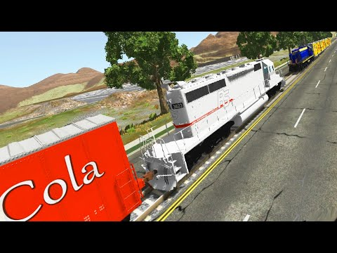 Realistic TRAIN accidents BeamNG Drive