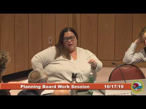 Planning Board Work Session 10.17.2019
