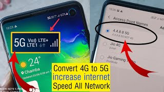 Convert 4G To 5G || Secret APN Code To Increased Internet Speed 4G to 5G Every Network