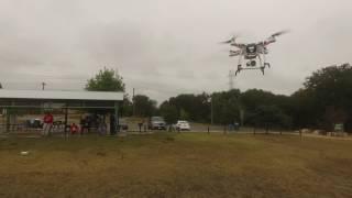 6 DJI Phantom Drones flying at San Antonio Park