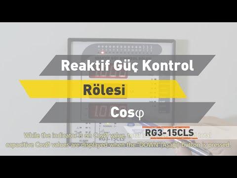 RG3-15 CLS Reaktif Güç Kontrol Rölesi - CosØ