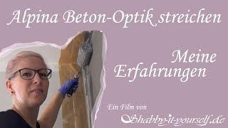 Alpina Farbrezepte Beton-Optik streichen