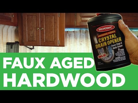 Drain Cleaner as Wood Stain? | Mike And Lauren
