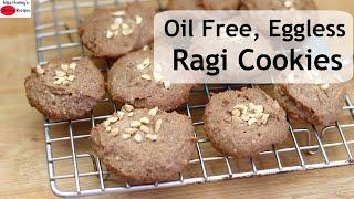 Ragi Nankhatai Recipe – Oil Free/Gluten Free/Eggless Ragi Cookies – Vegan Finger Millet Cookies