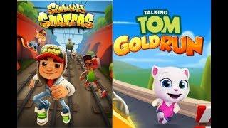 Subway Surfers vs Tom Gold Run  PSY   GENTLEMAN